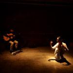 Session_01@カフェムリウイ ギターとトランペットとの即興。写真は齋藤元成さん。